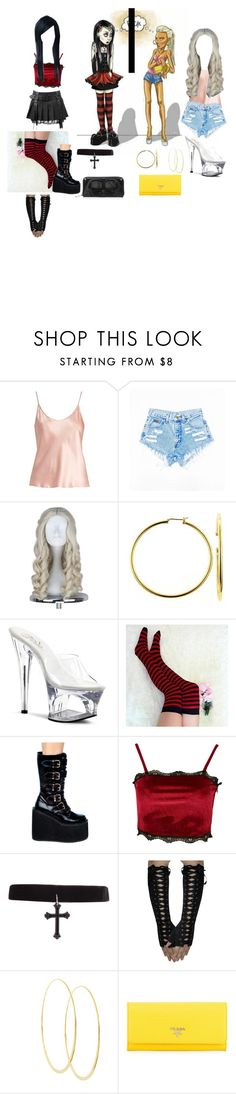 """freaks can be freaks, but may have something in common"" by ashleypurdy98 ❤ liked on Polyvore featuring La Perla, Bling Jewelry, Pleaser, Coshome, Demonia, Boohoo, Lana, Prada and Loungefly"
