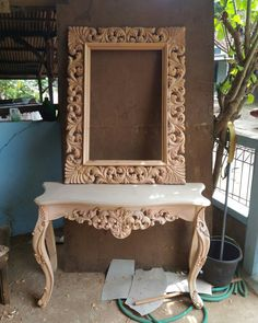 Dressing table Available to order WhatsApp or Call 0622273802 Art Furniture, Bed Furniture Design, Decor, Home Decor Furniture, Frame Decor, Indian Home Decor, Wood Carving Furniture, Wood Carving Designs, Home Decor