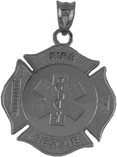 "FIREFIGHTER JEWELRY PBS01510K YELLOW GOLD 1"" MALTESE"