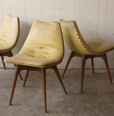 Grant Featherston; #D350 Side Chairs, c1951.