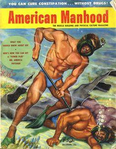1950s AMERICAN MANHOOD MAGAZINE Cover by Christian Montone, via Flickr