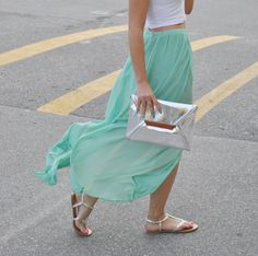 the skirt,tha MINT is just on point!!