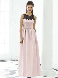 A-line Scoop Floor-length Evening Dress #USAFF205