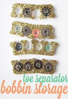 Toe Separator Bobbin Storage: The Best Decision Ive Made All Year #sewing #organization