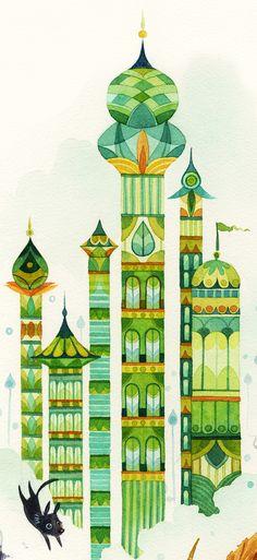 Green Towers by Lorena Alvarez Gómez, via Behance