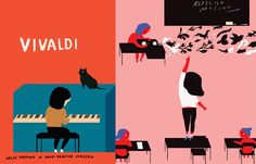 I love how Mari Kanstad Johnsen illustrated the children's book VIVALDI. I am an avid children's literature collector, and the illustrations are as important to me as the story. So often you'll find a lovely story, but poor illustrations or...