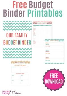 Need help organizing your finances? Download these free budget binder printables to keep track of your monthly spending and saving.