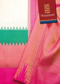 The exhilarating pista green gives way to the soothing onion pink, which in turn leads to the invigorating bold pink. Wow! #Utppalakshi #Sareeoftheday#Silksaree#Kancheevaramsilksaree#Kanchipuramsilks #Ethinc#Indian #traditional #dress#wedding #silk #saree#craftsmanship #weaving#Chennai #boutique #vibrant#exquisit #pure #weddingsaree#sareedesign #colorful #elite