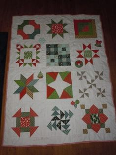Mother in Law's Xmas Quilt from What I Did on my Summer Vacation