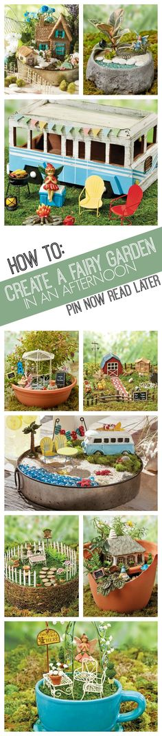 The possibilities are endless for these adorable fairy gardens! Add in a few materials and accessories at a time to bring some fairy magic into your garden. | How to make a fairy garden | fairy garden projects | fairy gardens