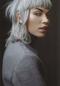 Aline Weber in Aline For a Day shot by Marton Perlaki for The Room Silver hair color Hair Inspo, Hair Inspiration, Character Inspiration, Character Design, Hairstyles With Bangs, Cool Hairstyles, Fringe Hairstyles, Formal Hairstyles, New Hair