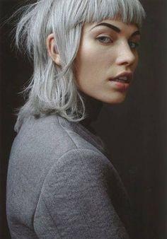 Yolandi Visser bangs w/ Matriarch grey. Ungh!