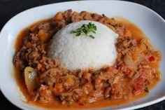 Kjøttdeiggryte for hverdager og stadig kjøligere kvelder Grains, Rice, Beef, Recipes, Food, Meat, Essen, Meals, Eten