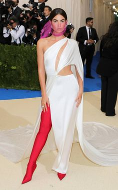 Lily Aldridge from Met Gala 2017: Best Dressed Stars  Lily's asymmetrical number and tall boots are making all kinds of amazing statements.
