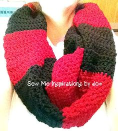 Crochet Striped Cowl by SewMeInspirationbyJo on Etsy, $35.00