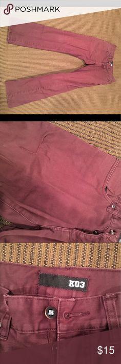 Men's Krew Jeans Maroon size 30 In good shape Jeans Slim Straight