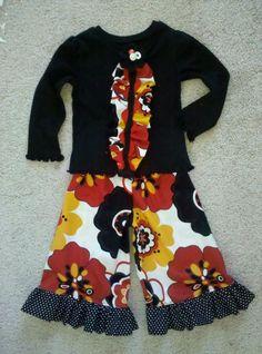 fun fabrics + ruffles = baby girl clothes