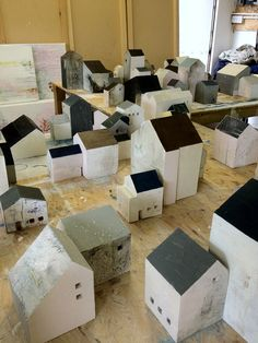Jessica Zoob Work in progress on Oak Houses, in collaboration with… Clay Houses, Ceramic Houses, Paper Houses, Miniature Houses, Wooden Houses, Art Houses, Mini Houses, Wood Projects, Woodworking Projects