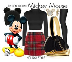 Mickey Mouse by leslieakay on Polyvore featuring polyvore, fashion, style, New Look, DKNY, Bottega Veneta, Karen Millen, Halcyon Days, Disney, clothing, disney, disneybound and disneycharacter