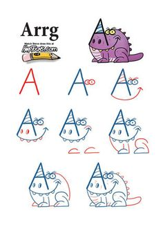 Take letters from the alphabet and turn them into monsters.