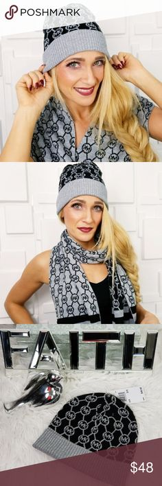 MICHAEL KORS HAT/ BEANIE BLK-GRAY-SILVER Trusted SellerPosh Ambassador  Authentic Brand new with tags  Fabulous and chic Michael Kors  black, gray& silver metallic threading beanie. Make this fabulous beanie a staple item for your winter wardrobe or give it as a gift to someone you care for!!  More fabulous MK accessories in my closet  Shop with confidence Suggested User Same day shipping 5 star rated closet  BEANIE hat designer present Christmas holiday birthday scarf…