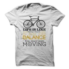 Bicycle and life T Shirts, Hoodies, Sweatshirts. GET ONE ==> https://www.sunfrog.com/LifeStyle/Bicycle-and-life.html?41382