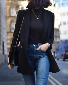 Blazer, Outfits 2019 Outfits casual Outfits for moms Outfits for school Outfits for teen girls Outfits for work Outfits with hats Outfits women Hot Fall Outfits, Early Fall Outfits, Comfy Fall Outfits, Simple Fall Outfits, Winter Outfits For Work, Fall Fashion Outfits, Blazer Fashion, Mode Outfits, Look Fashion
