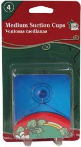 """Christmas Suction Cup Hooks Non-yellowing, Clear Plastic by Adams. $11.89. Non-Yellowing, clear plastic suction cup w/metal hook. CHRISTMAS SUCTION CUP HOOKS. Holds Up To 3 Lbs.. 1-3/4"""". Christmas design blister card. Christmas Suction Cup Hooks Non-yellowing, Clear Plastic Suction Cup W/metal Hook Christmas Design Blister Card Discovery Con, Nbr, Sup 1-3/4 Holds Up To 3 Lbs. Price is indicated for bulk discounted quantity of 12 unit(s) per case.. Save 62%!"""