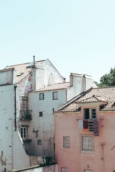 Vernacular architecture in Lisbon, Portugal.