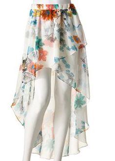 joe benbasset floral chiffon hilow maxi skirt
