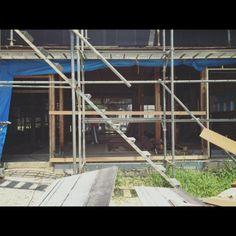 Junk_sweet_Garden_teftefさんの、インダストリアル,建築中,リノベーション,格子窓,フレンチドア,ヴィンテージ,アイアン,古民家,ガーデニング,のお部屋写真