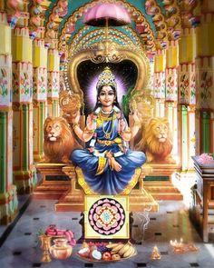 Maa Rajarajeshwari Maheshwari Parvati Durga Shri Hanuman, Durga Maa, Shiva Shakti, Mother Kali, Mother Goddess, Navratri Wallpaper, Hindu Deities, Hinduism, Saraswati Goddess