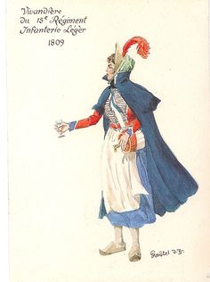 Light Infantry; 15th Regt Vivandiere 1809