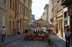 The town is famous for the street cafes and coffee shops.