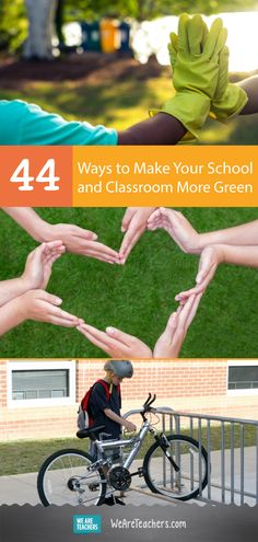 44 Ways to Make Your School and Classroom More Green. There are many ways you can make your classroom and school more green while teaching your students the importance of recycling. Check out these ideas to lay down the groundwork for a green school and c Eco Kids, Outdoor Learning, Outdoor Education, Green School, Make School, Learning Activities, Teaching Science, Go Green, Space Classroom