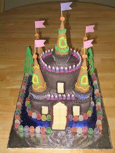 Princess party Castle Cake