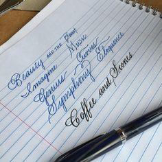 Handwriting Analysis – Handwriting Is Brain Writing – Improve Handwriting Cursive Handwriting Practice, Pretty Handwriting, Handwriting Styles, Handwriting Analysis, Copperplate Calligraphy, Calligraphy Handwriting, Calligraphy Alphabet, Penmanship, Cursive Script