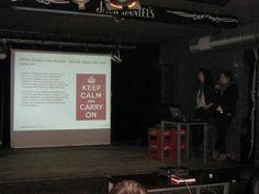 4.04.2012, Cracow: Siła rażenia Social Media: propaganda.     Ania Rejkowicz, Maria Pawlikowska, RozPACZAJĄ Memy.