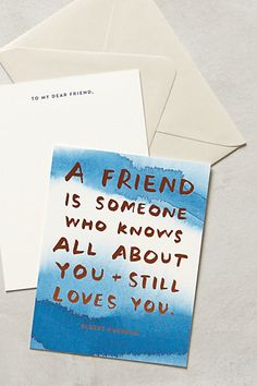 About A Friend Card #anthrofave #anthropologie.com