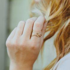 Gold wrap-around Ring