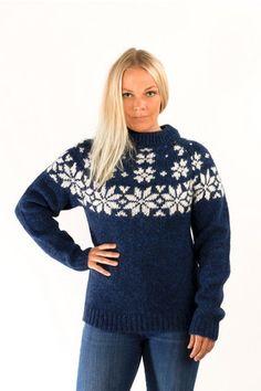 Fönn Wool Sweater Blue - Wool Sweaters - Wool Sweaters