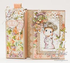 Card with a candy box #sakuratilda #magnolialicious #designteam #craftpaper #magnolia #magnoliastamps #g45 #graphic45 #distressink #watercolouring