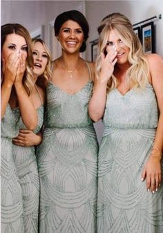 Greenery Wedding Bridemaids dresses from Pinterest