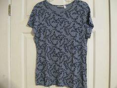 Woman's Knit Top Croft & Barrow XL Blue #CroftBarrow #KnitTop #Casual