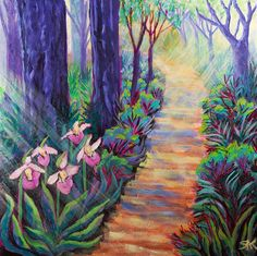Spiritual Counseling, Flower Essence Aromatherapy, Art and Healing: The Spiritual Meaning of Finding Lady Slippers on Your Path