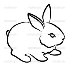 easy rabbit drawing drawings beginners bunny draw step