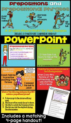 This PowerPoint addresses CCSS L.4.1.E, forming and using prepositional phrases.