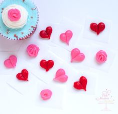 Make-Ahead Frozen Buttercream Cake Decorations...how to...