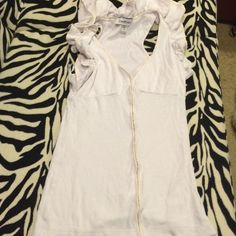 White Bebe Top This has only been worn twice. In good condition with no stains or rips. bebe Tops Blouses