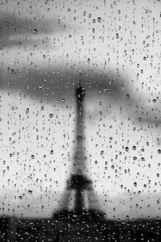 Eiffel Tower.  Unusual sight.  How exciting it must be able to be there and capture this photo. Of course, if you were on vacation, that's another story !